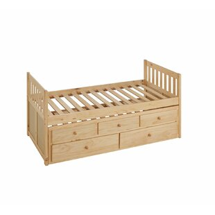 Spigner Twin Captain Bed with Trundle by Viv   Rae