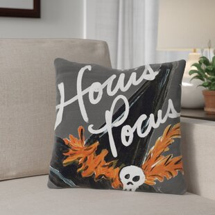 Halloween Hat Hocus Pocus Throw Pillow