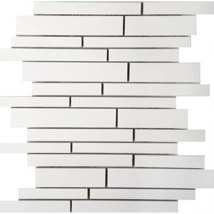 Style Random Sized Porcelain Mosaic Tile in Pure White