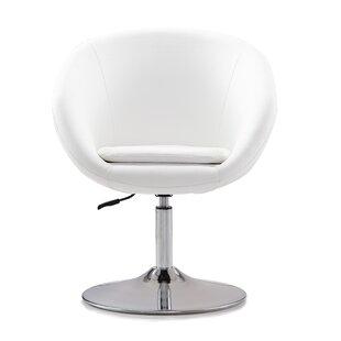 Helmuth Swivel Barrel Chair by Orren Ellis