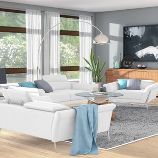 Coupon Cana Leather 3 Piece Living Room Set by Orren Ellis Reviews (2019) & Buyer's Guide