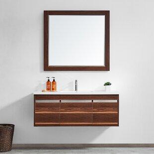 Adalynn 48 Single Bathroom Vanity with Mirror by Wrought Studio
