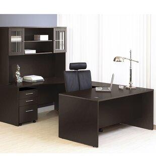 Haaken Furniture Pro X Executive 5 Piece U-Shape Desk Office Suite