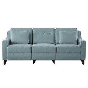 Superior Navy Blue Recliner Sofa | Wayfair