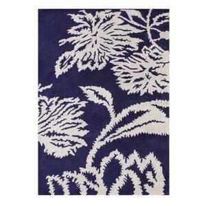 Alliyah Handmade Blue/White Area Rug