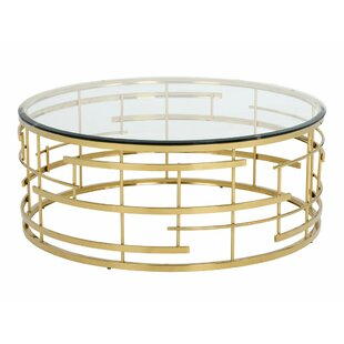 Rebbecca Glass Coffee Table Everly Quinn