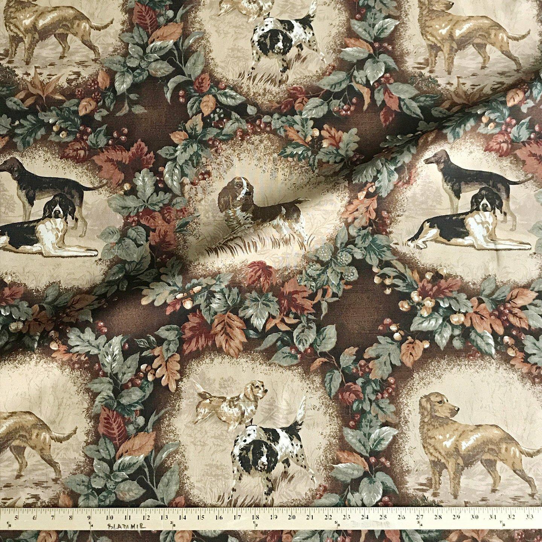Plankroad Home Decor Hunting Dog Cotton Print Novelty Fabric Wayfair