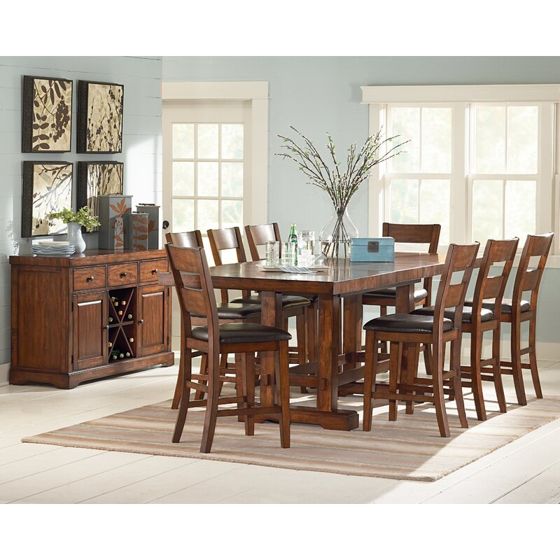 Nation 9 Piece Counter Height Extendable Dining Set