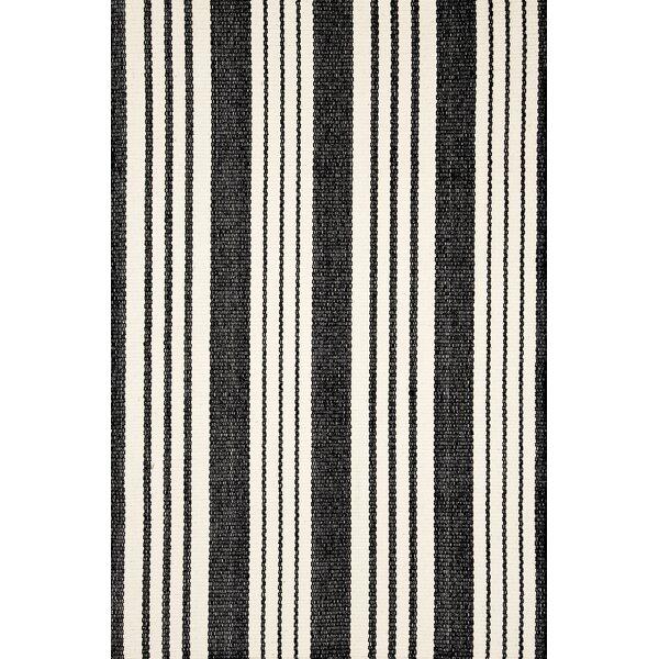 Shop Birmingham Striped Handmade Flatweave Black/White Indoor / Outdoor Area Rug from Wayfair on Openhaus