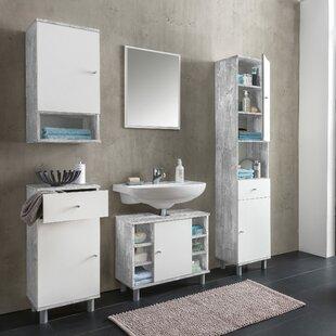Pedroza 5 Piece Bathroom Furniture Set With Mirror By Mercury Row