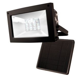 Maxsa Innovations Solar Dusk Until Dawn LED Battery Powered Outdoor Security Flood Light