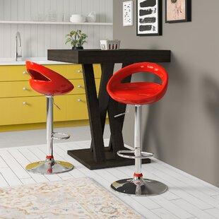 Lakisha Height Adjustable Bar Stool (Set Of 2) By Zipcode Design