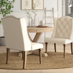 Adam Button Tufted Upholstered Dining Chair (Set of 2)