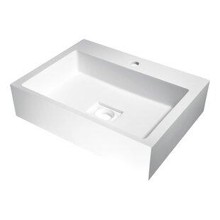 ANZZI Alcea Plastic Rectangular Vessel Bathroom Sink