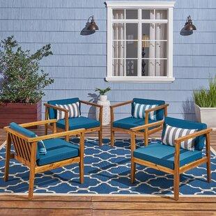Wrens Teak Patio Chair (Set of 4)