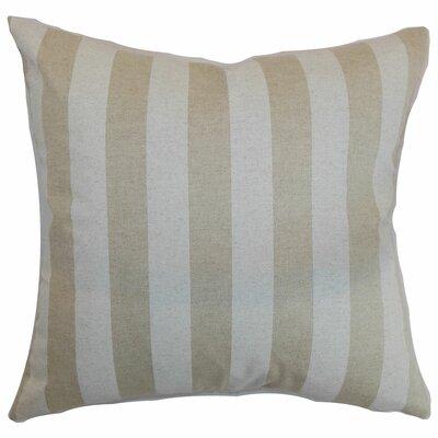 Birch Lane™ Heritage Knotts Indoor/Outdoor 100% Cotton Throw Pillow Color: Cloud Linen, Size: 20 H x 20 W