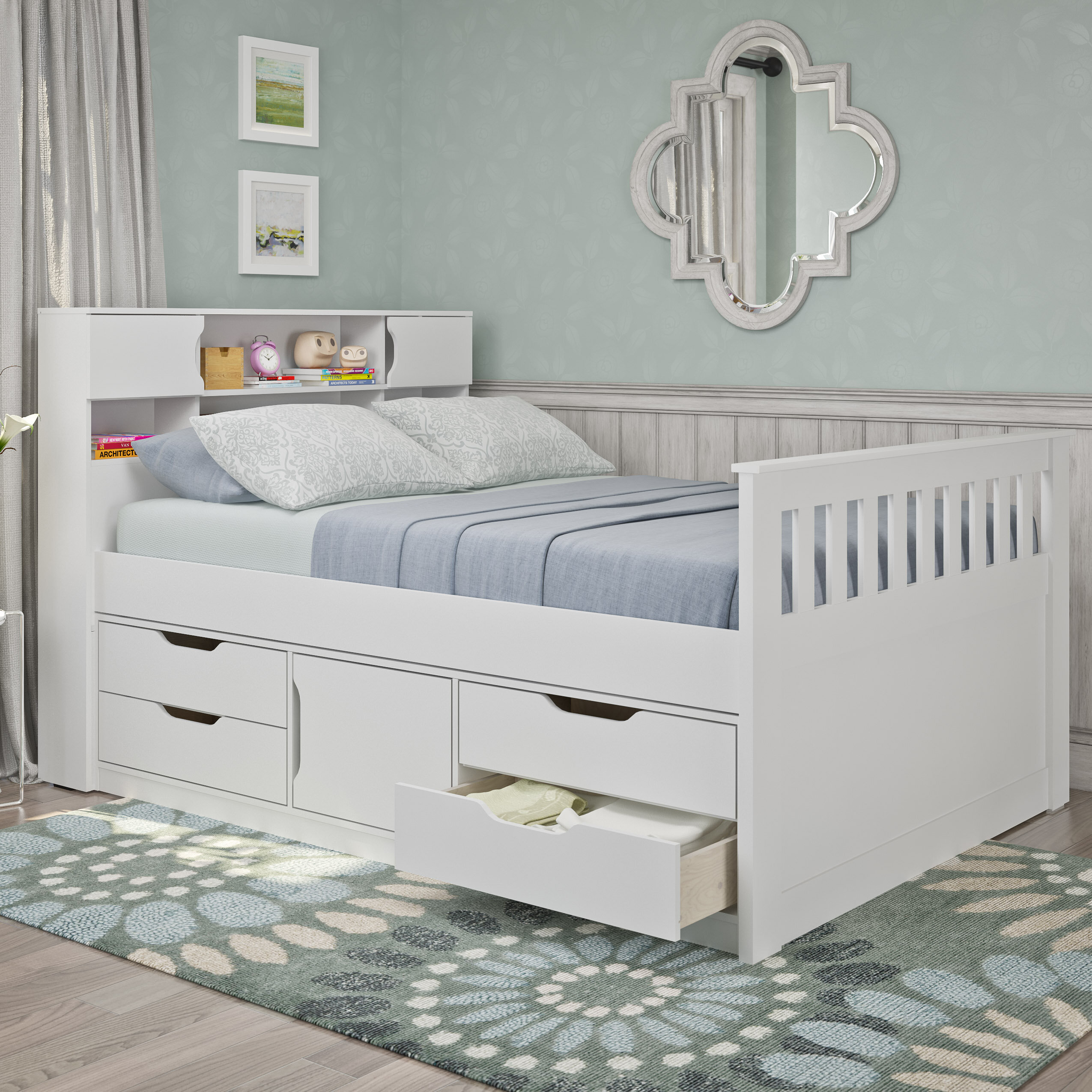 Double Storage Platform Bed
