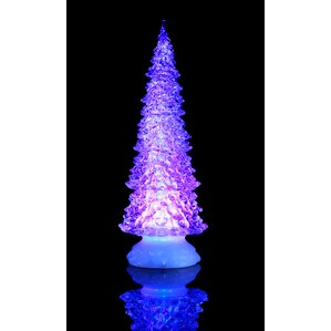 sparkle tree with water inside set of 2 - Tabletop Christmas Trees With Lights