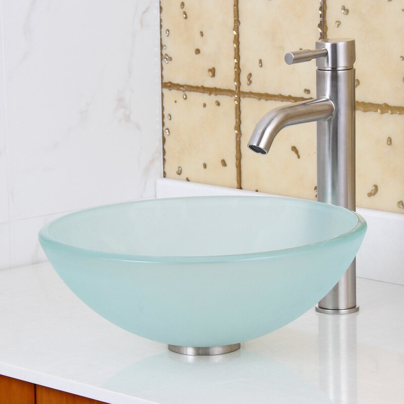 Elite Double Layered Tempered Glass Circular Vessel ...
