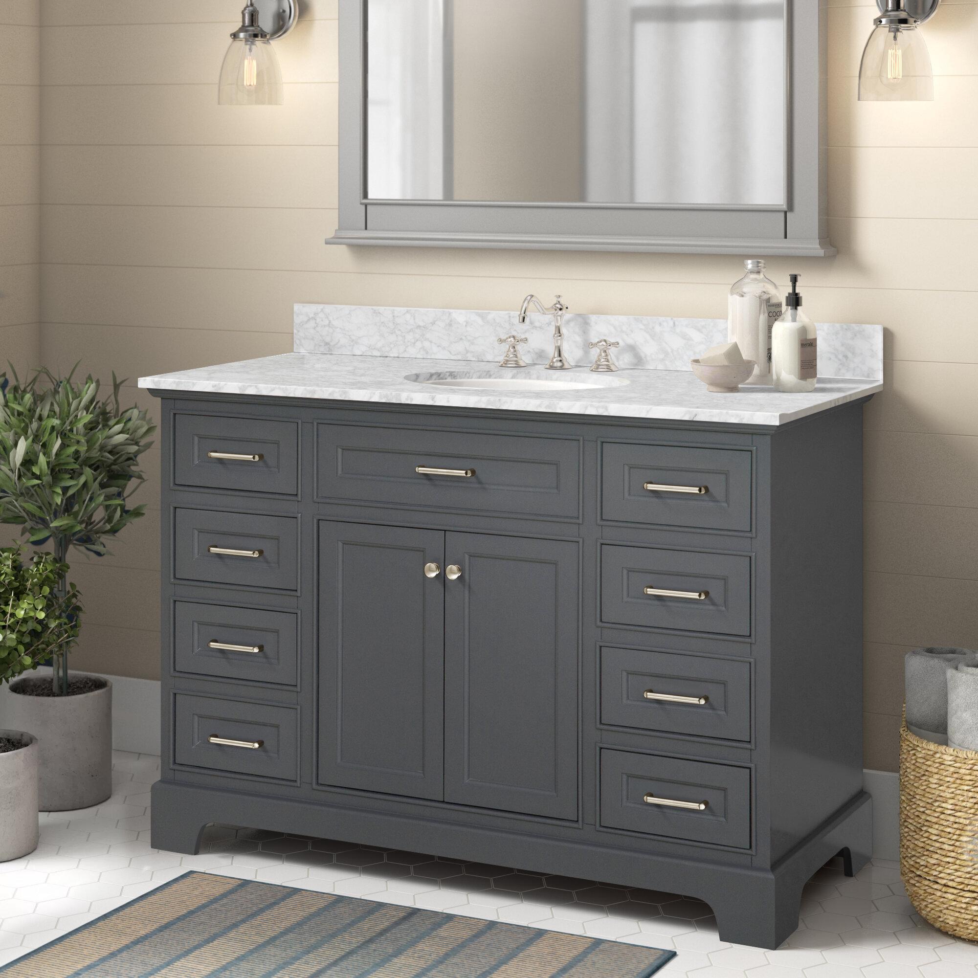 Wayfair 48 Inch Gray Bathroom Vanities You Ll Love In 2021