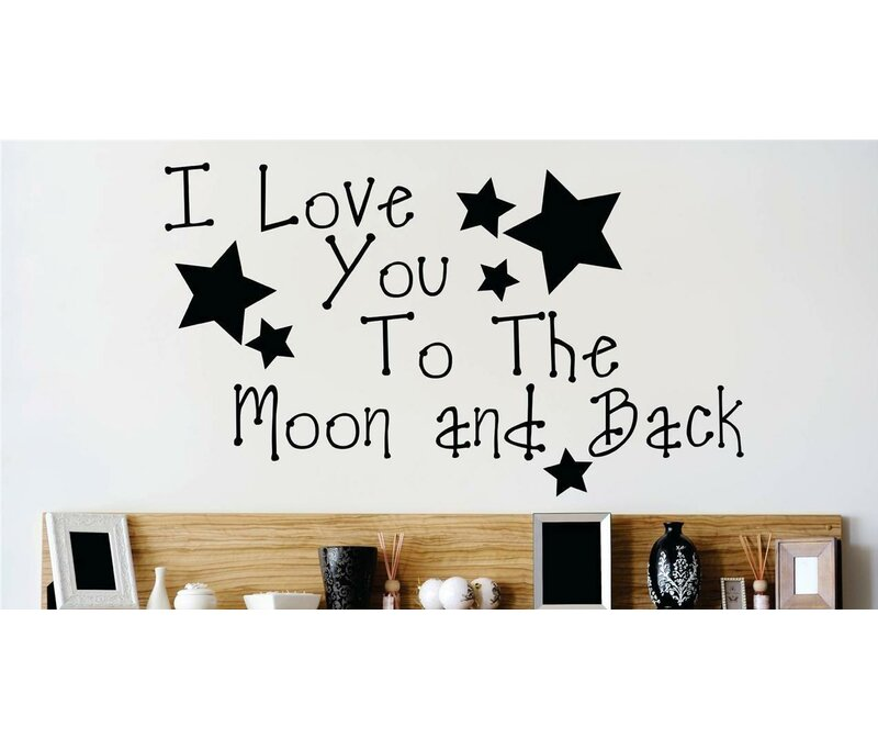 I Love You To The Moon And Back Nursery Rhyme Quote Wall Decal