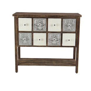 McLeansboro Rustic 8-Drawer Rectangular Wood Sideboard