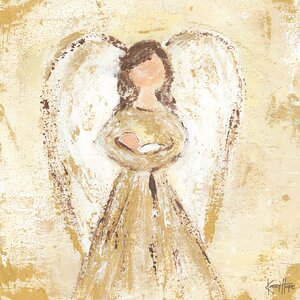 'New Blessings Angel' by Kasey Hope Painting Print on Canvas in Gold