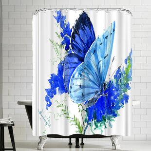 East Urban Home Suren Nersisyan Holly Blue Butterfly I Shower Curtain