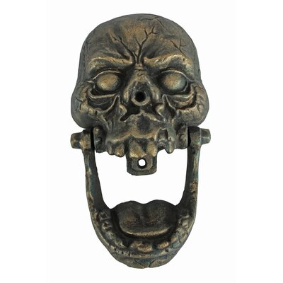 Great Knock Jaw Skull Cast Iron Door Knocker