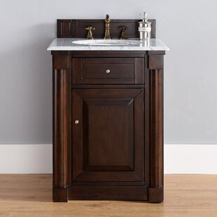 Maurice Traditional 26 Single Burnished Mahogany Bathroom Vanity Set by Alcott Hill