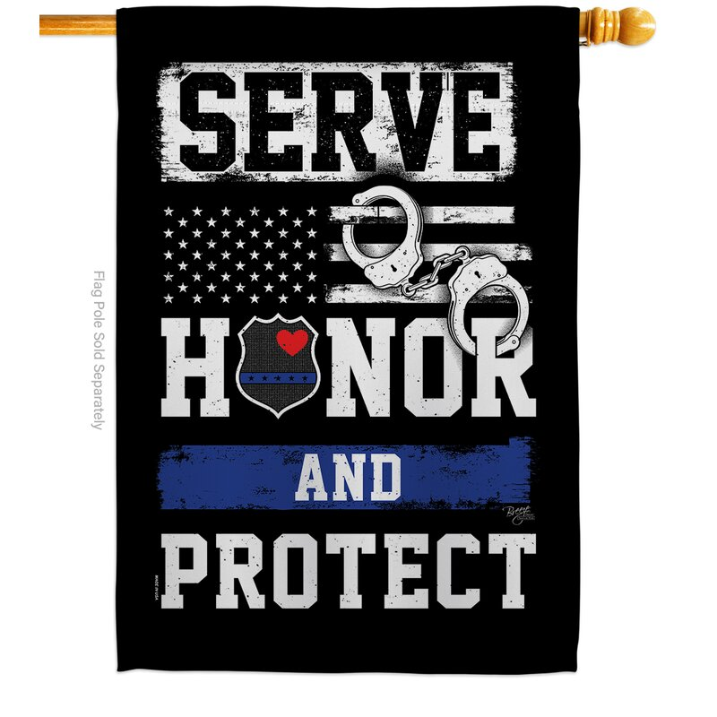 Breeze Decor Serve Honor Protect Impressions Decorative 2 Sided Polyester 40 X 28 In House Flag