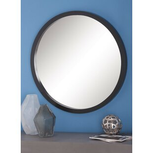 Price Check Samson Wood Round Wall Mirror By Langley Street