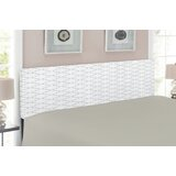 Simple Geometric Forms on Plain Background Upholstered Panel Headboard by East Urban Home