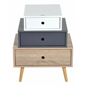 Modern 3 Drawers Bedside Table
