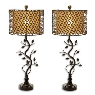 Leaves Lattice 35 Table Lamp (Set of 2)