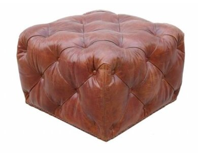 Paris Club Leather Ottoman