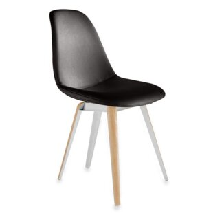 Slice Genuine Leather Upholstered Dining Chair by Modern Chairs USA