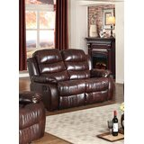 Swarey Faux Leather Pillow Top Arm Reclining Loveseat by Winston Porter