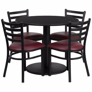 Laux Round Laminate 5 Piece Dining Set