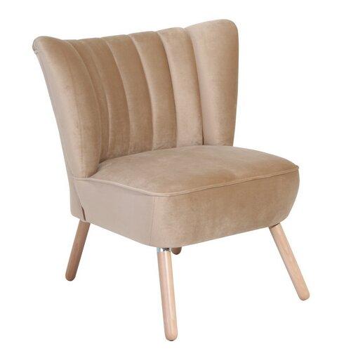 Cocktailsessel Weitzman | Wohnzimmer > Sessel > Cocktailsessel & Clubsessel | Mikrofaser - Samtvelours - Flachgewebe - Stein - Microfaser - Holzwerkstoff - Nussbaum | ModernMoments