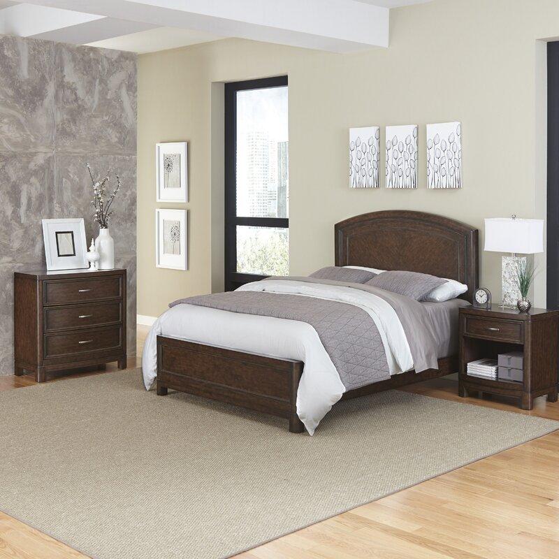 Home Styles Crescent Hill Panel 3 Piece Bedroom Set | Wayfair