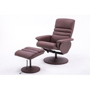 Electric Reclining Massage Chair with Ottoman by Ebern Designs