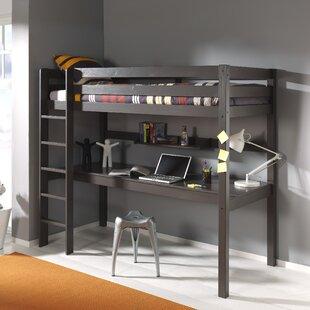 Ethridge European Single High Sleeper Bed With Desk By Zoomie Kids