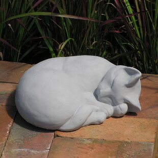 Charmant Classic Sleeping Cat Statue