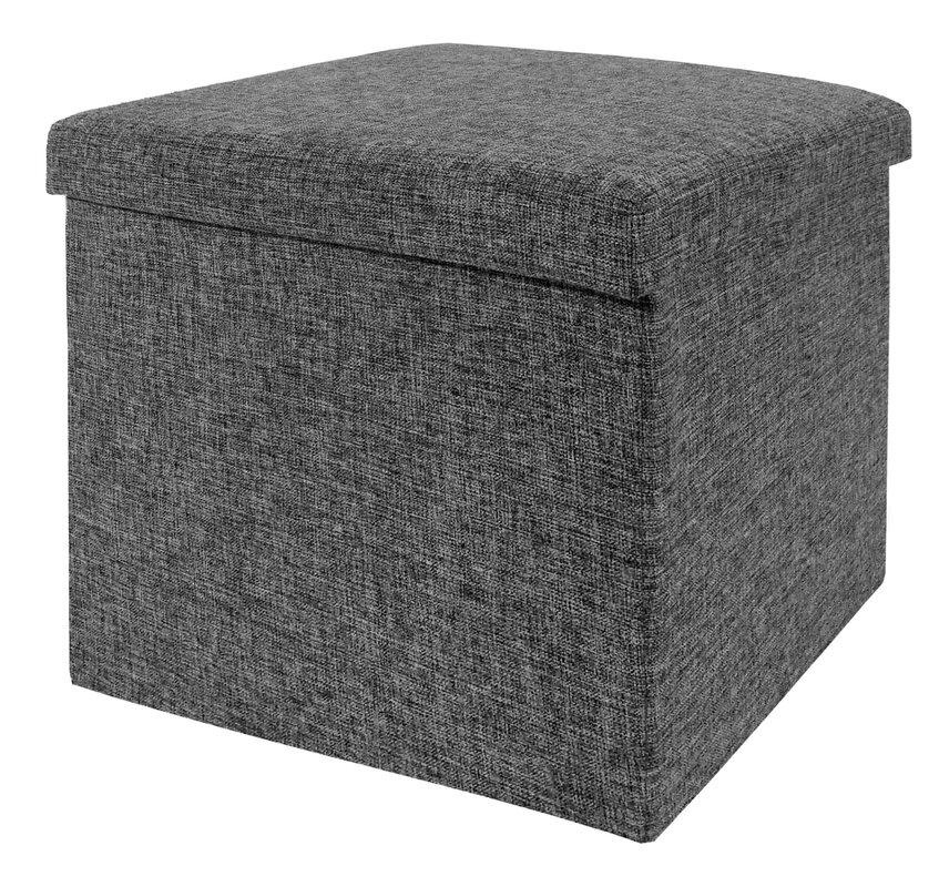 Zosia Foldable Storage Foot Stool Cube Ottoman