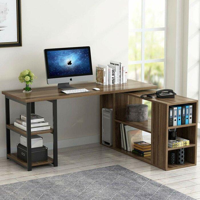Nemeth Reversible L-Shaped Computer Desk