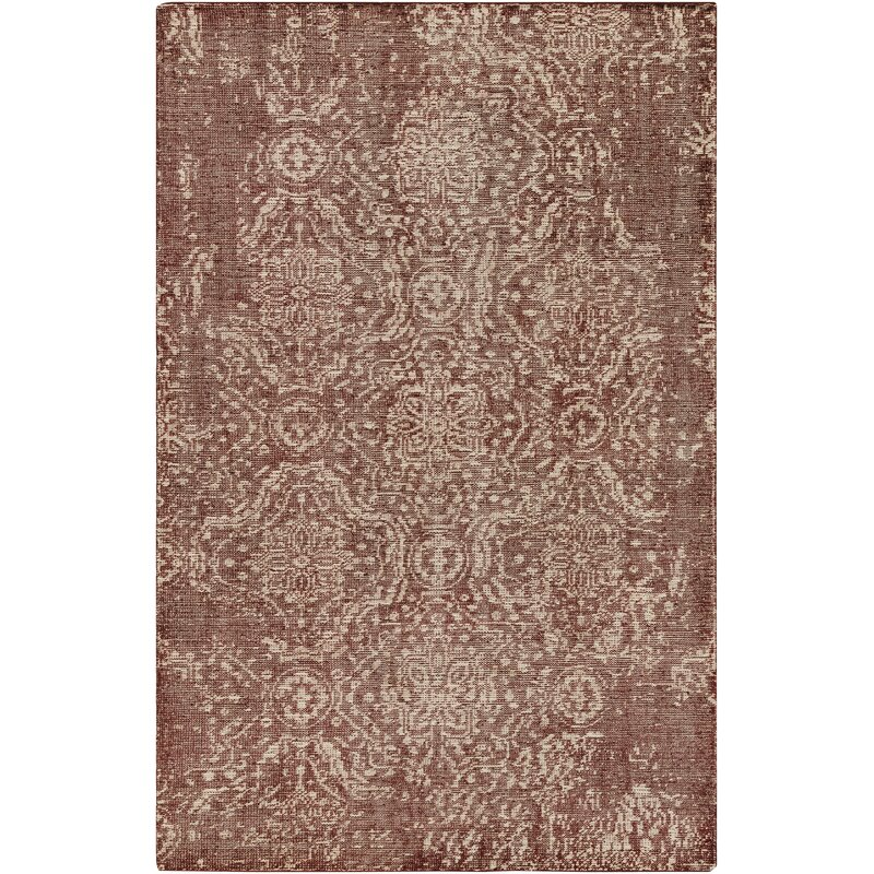 Ophelia Co Andreana Oriental Hand Knotted Wool Dark Red Area Rug Wayfair