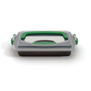 Perfect Slice Rectangular Non-Stick Covered Roaster with Tool