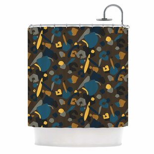 'Abstract Leoparc' Single Shower Curtain