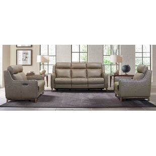 Wisteria Leather Reclining Configurable Living Room Set
